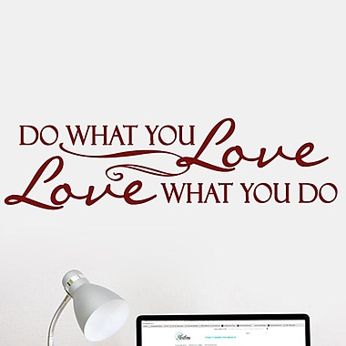 SweetumsWallDecals Love What You Do Wall Decal; Cranberry