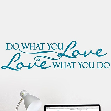 SweetumsWallDecals Love What You Do Wall Decal; Teal