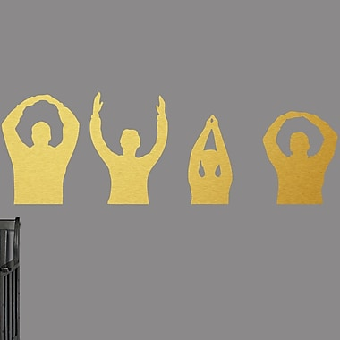SweetumsWallDecals Ohio People Wall Decal; Gold