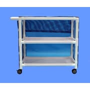 Care Products, Inc. Deluxe Wide 2-Shelf Linen Cart w/ Cover