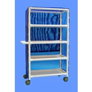 Care Products, Inc. Deluxe Wide 4-Shelf Linen Cart w/ Cover