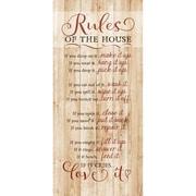 Dexsa ''Rules Of The House '' Textual Art Plaque