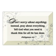 Dexsa Simple Expressions ''Don't Worry About Anything'' Textual Art Plaque