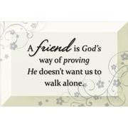 Dexsa Simple Expressions ''Friend Is God's'' Textual Art Plaque