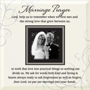 Dexsa ''Marriage Prayer'' Beveled Glass Picture Frame