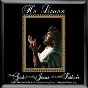 Dexsa ''He Lives Jesus Hands'' Glass Picture Frame