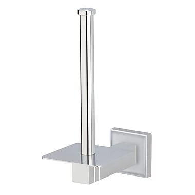 Valsan Cubis Plus Wall Mounted Spare Roll Holder; Chrome