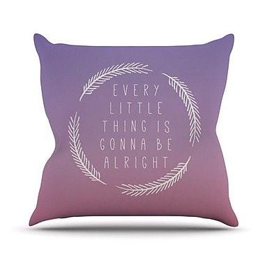 KESS InHouse Little Thing by Galaxy Eyes Throw Pillow; 26'' H x 26'' W x 1'' D