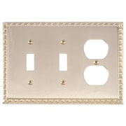 BRASS Accents Egg and Dart Outlet Plate; Polished Brass