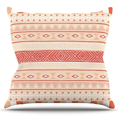 KESS InHouse Mojave Outdoor Throw Pillow; Orange