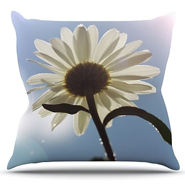 KESS InHouse Daisy Bottom by Angie Turner Outdoor Throw Pillow