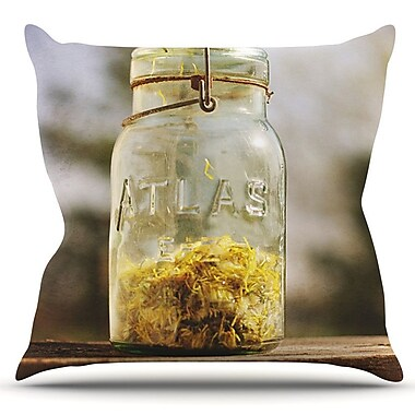 KESS InHouse Jar of Sunshine by Angie Turner Outdoor Throw Pillow