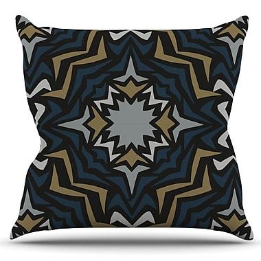 KESS InHouse Winter Fractals by Miranda Mol Outdoor Throw Pillow