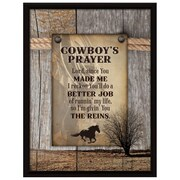 Dexsa ''Cowboy's Prayer...'' Textual Art Plaque