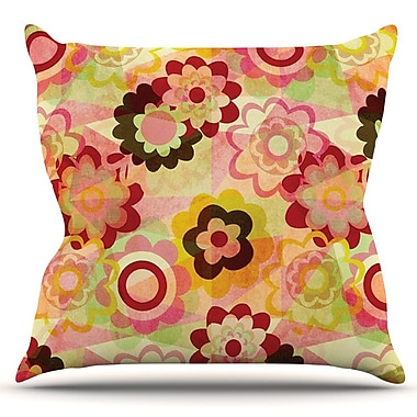 KESS InHouse Colorful Mix by Louise Machado Outdoor Throw Pillow