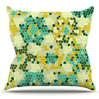 KESS InHouse Flower Garden Mosaic by Laura Nicholson Outdoor Throw Pillow