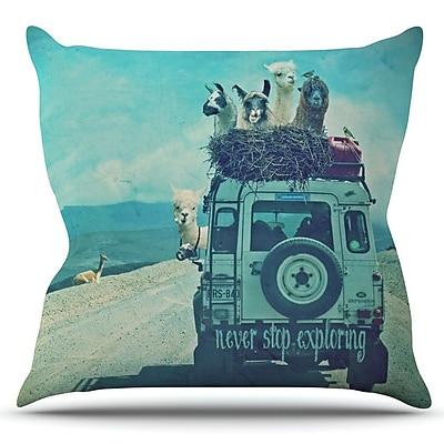 KESS InHouse Never Stop Exploring III by Monika Strigel Outdoor Throw Pillow