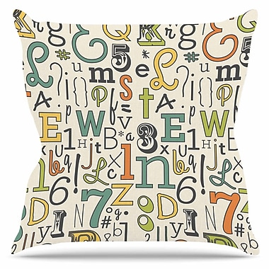 KESS InHouse ABC by Busy Bree Outdoor Throw Pillow