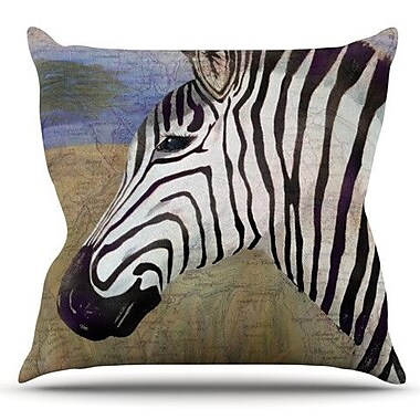 KESS InHouse Zebransky by Catherine Holcombe Outdoor Throw Pillow