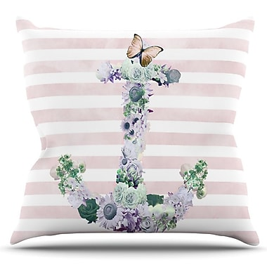 KESS InHouse Floral Anchor by Nika Martinez Outdoor Throw Pillow