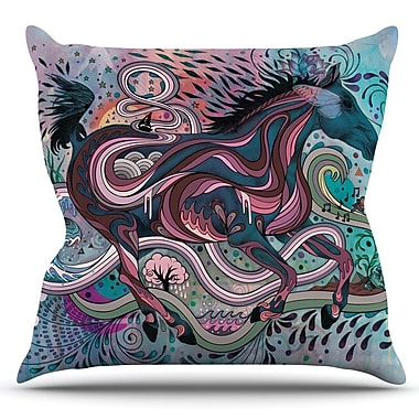 KESS InHouse Poetry in Motion by Mat Miller Outdoor Throw Pillow