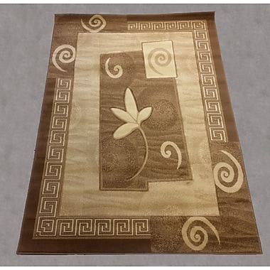 Brady Home Hand-Carved Gold Area Rug; 8' x 11'