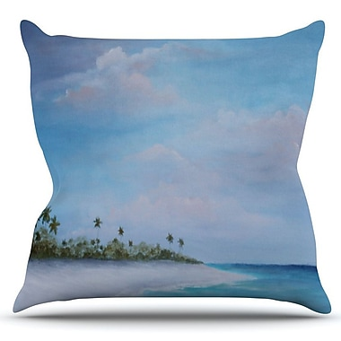 KESS InHouse Carefree Carribean by Rosie Brown Outdoor Throw Pillow
