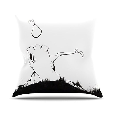 KESS InHouse It's Alright Outdoor Throw Pillow