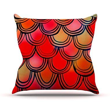 KESS InHouse Dragon Tail Outdoor Throw Pillow
