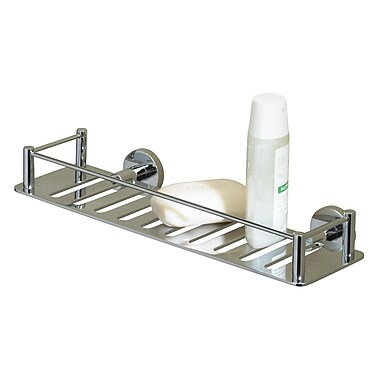 Valsan Essentials Solid Brass Wall Mounted Shower Caddy; Chrome