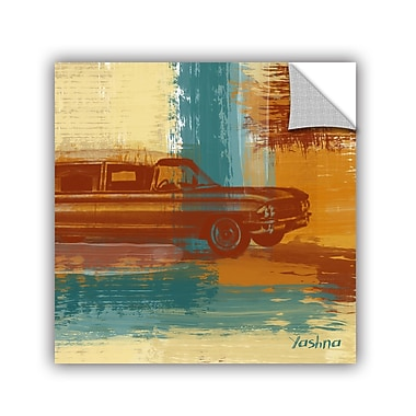 ArtWall Red Retro Car by Irena Orlov Wall Mural; 36'' H x 36'' W x 0.1'' D
