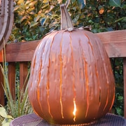Desert Steel Tall Orange Pumpkin Luminary