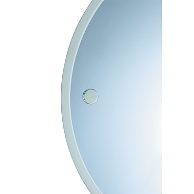 Valsan Porto Mirror; Satin Nickel