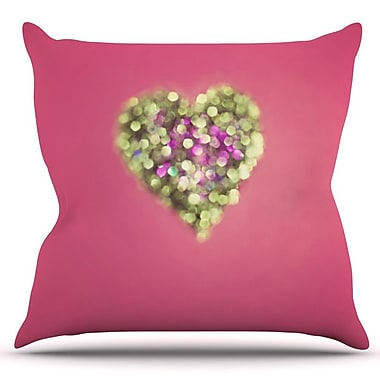 KESS InHouse Make Your Love Sparkle by Beth Engel Outdoor Throw Pillow