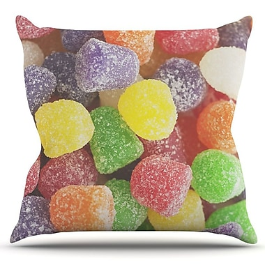 KESS InHouse I Want Gum Drops by Libertad Leal Outdoor Throw Pillow