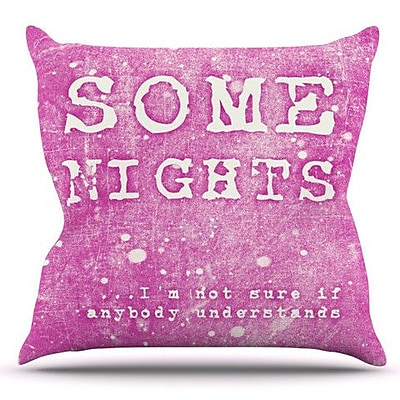 KESS InHouse Some Nights by Monika Strigel Outdoor Throw Pillow