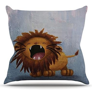 KESS InHouse Dandy Lion by Rachel Kokko Outdoor Throw Pillow