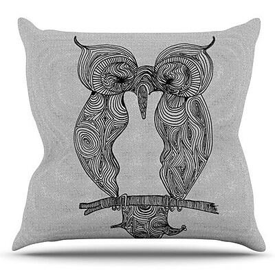 KESS InHouse Owl by Belinda Gillies Outdoor Throw Pillow