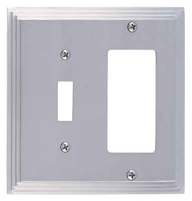 BRASS Accents Classic Steps GFCI Plate; Satin Nickel