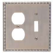 BRASS Accents Egg and Dart Outlet Plate; Antique Brass