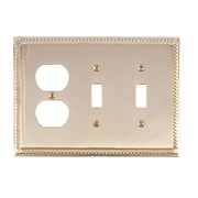 BRASS Accents Georgian Outlet Plate; Polished Brass