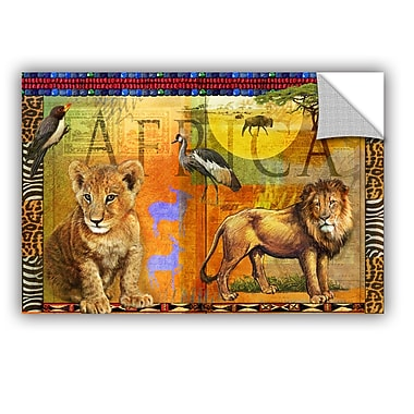 ArtWall African Lion by Chris Vest Wall Mural; 16'' H x 24'' W x 0.1'' D