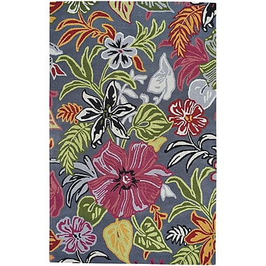 Capel Blooming Hand-Tufted Dove Area Rug; 5' x 8'
