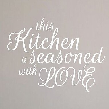 SweetumsWallDecals This Kitchen is Seasoned w/ Love Wall Decal; White