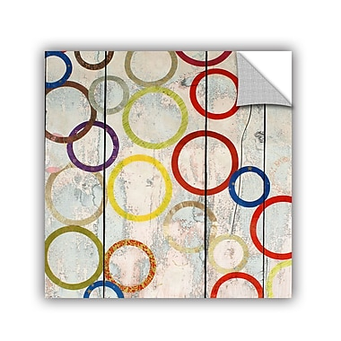 ArtWall Rainbow Circles III by Irena Orlov Wall Mural; 36'' H x 36'' W x 0.1'' D