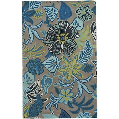 Capel Blooming Hand-Tufted Fawn Area Rug; 5' x 8'