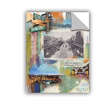ArtWall Bowery Collage by Andrew Sullivan Wall Mural; 48'' H x 36'' W x 0.1'' D