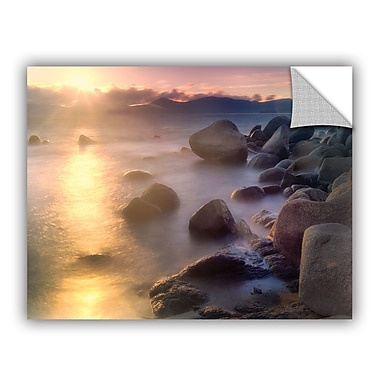 ArtWall Rocks and Water by Dennis Frates Wall Mural; 14'' H x 18'' W x 0.1'' D