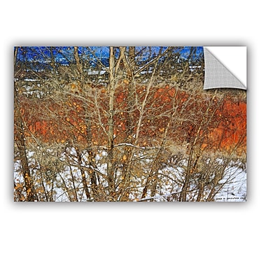 ArtWall Red Yellow Willow by Chris Vest Wall Mural; 24'' H x 36'' W x 0.1'' D