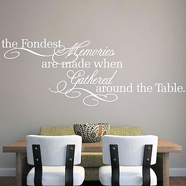 SweetumsWallDecals The Fondest Memories Wall Decal; White